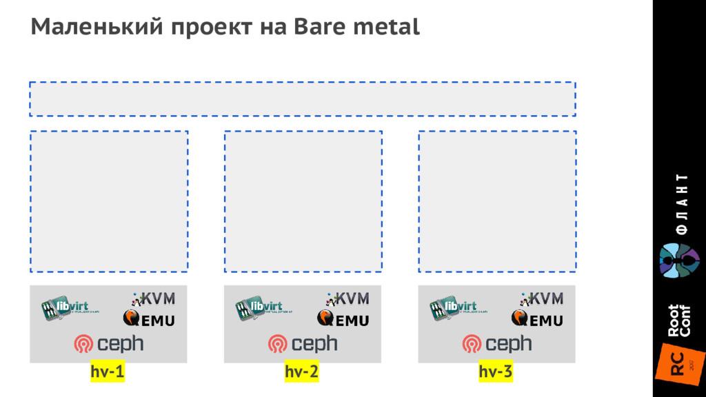 Маленький проект на Bare metal hv-1 hv-2 hv-3