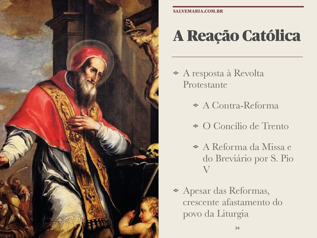A Reação Católica A resposta à Revolta Protesta...