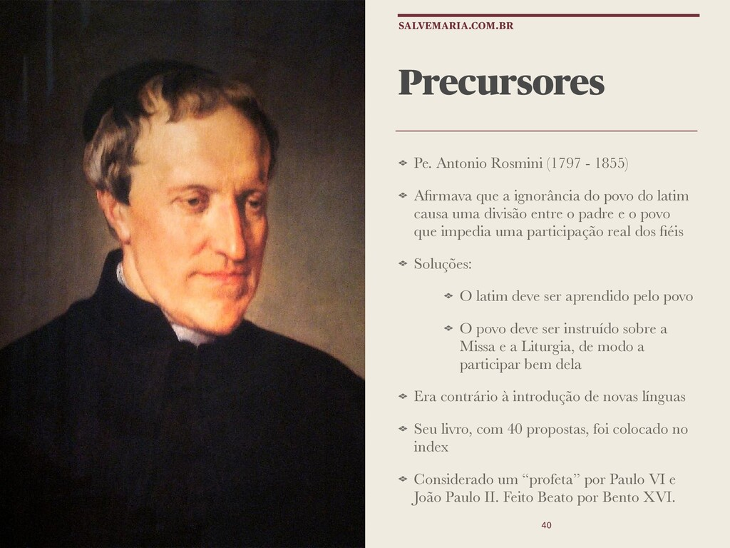Precursores Pe. Antonio Rosmini (1797 - 1855) A...