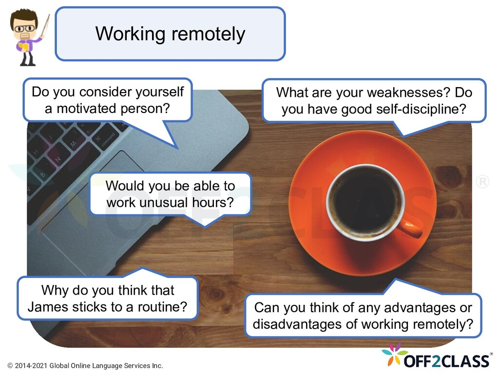 Working remotely Do you consider yourself a mot...