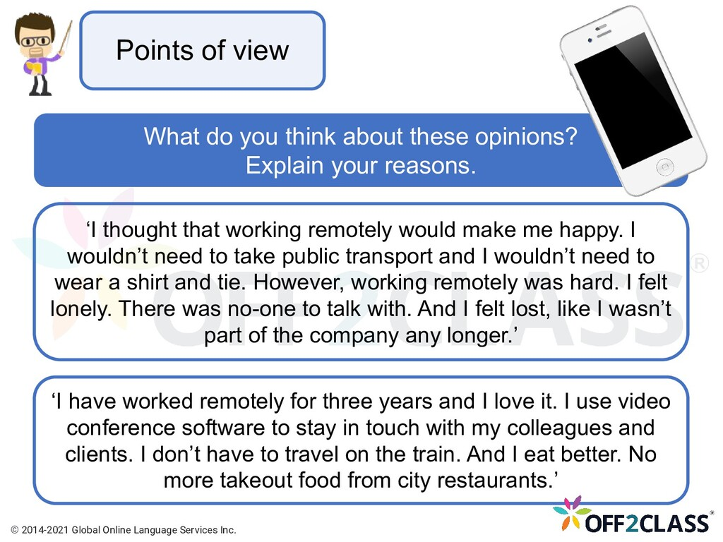 Points of view What do you think about these op...