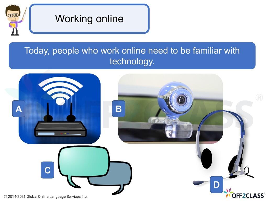Working online Today, people who work online ne...