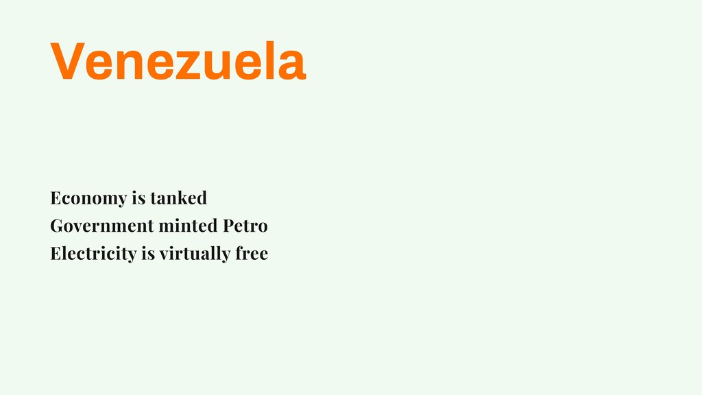Venezuela Economy is tanked Government minted P...