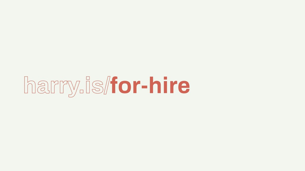 harry.is/for-hire