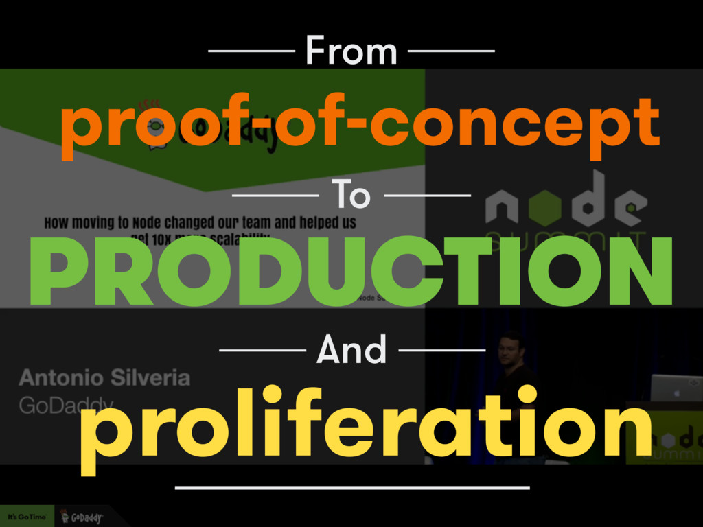 From PRODUCTION proof-of-concept To And prolife...