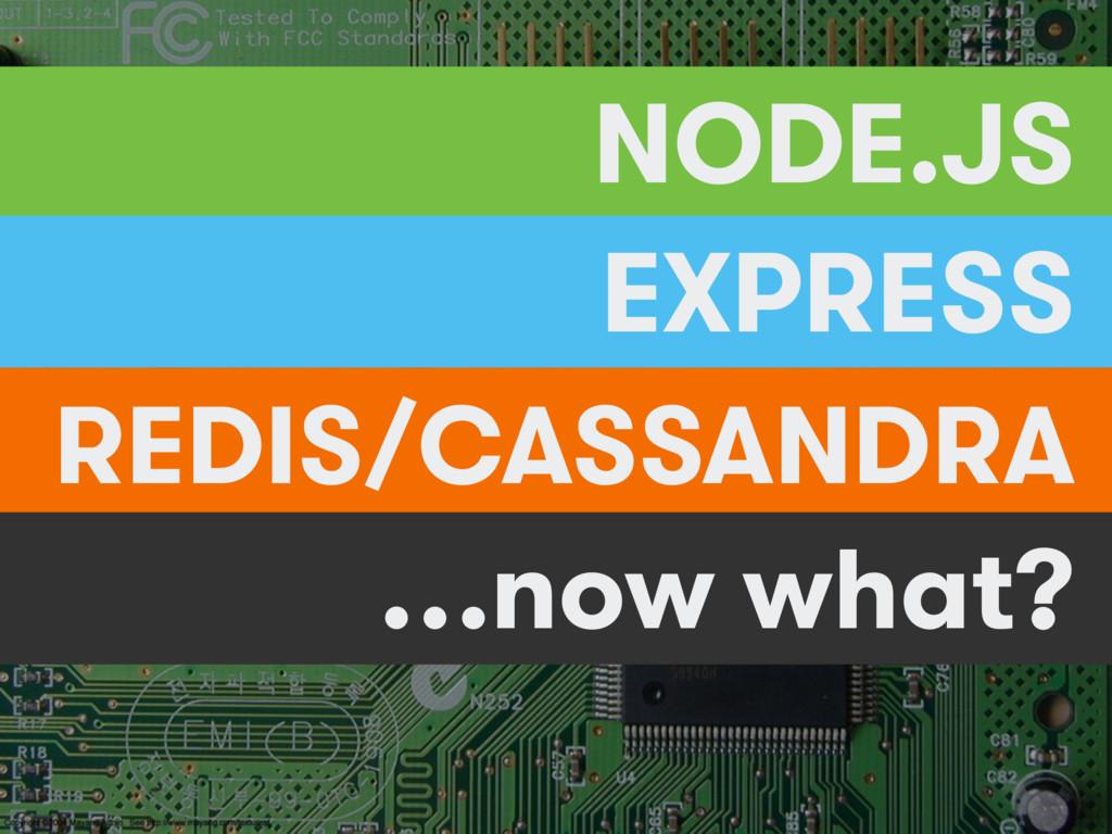 NODE.JS EXPRESS REDIS/CASSANDRA …now what?
