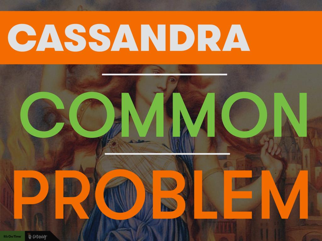 FIND A PROBLEM COMMON CASSANDRA