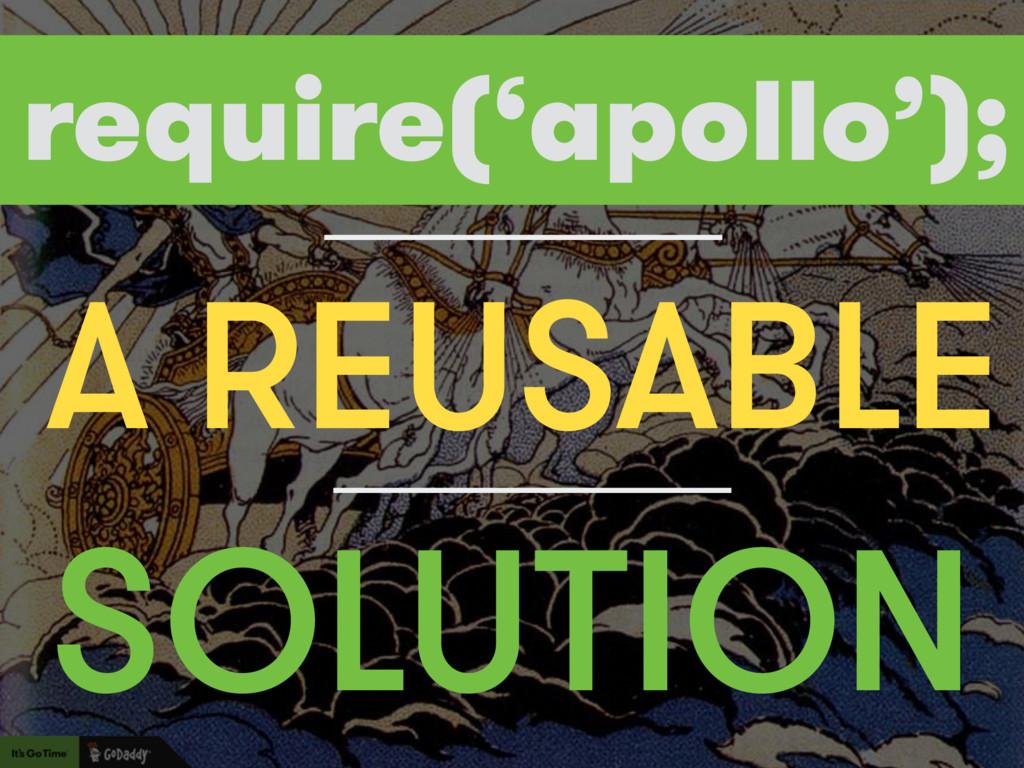 BUILD SOLUTION A REUSABLE require('apollo');