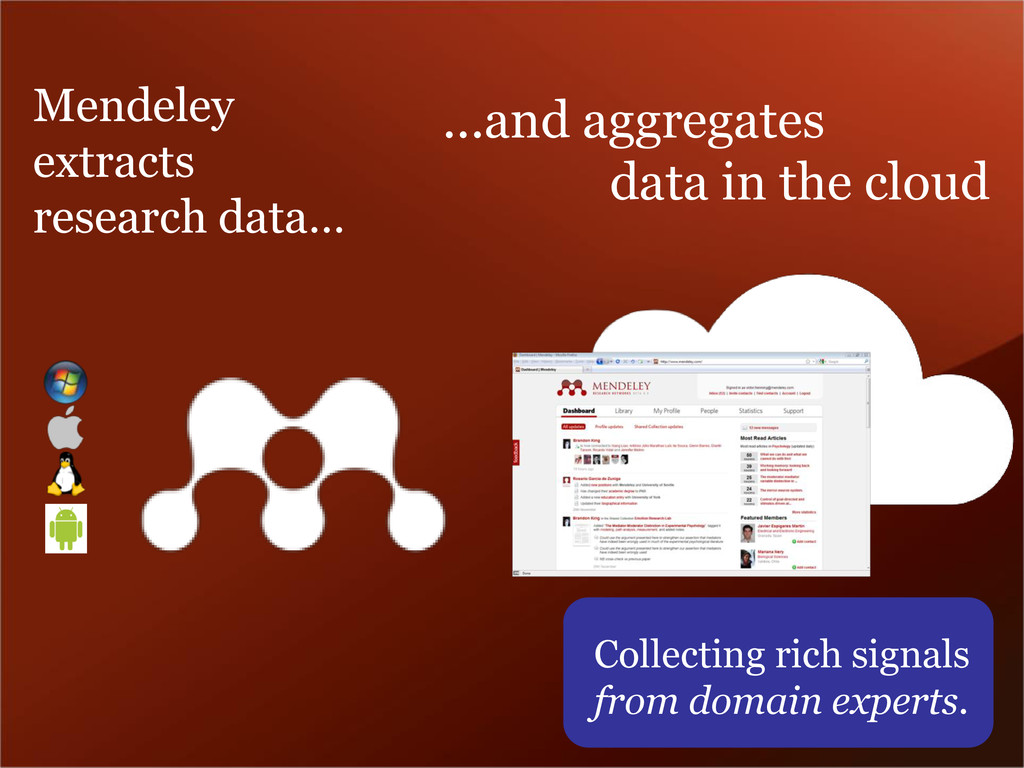 ...and aggregates data in the cloud Mendeley ex...