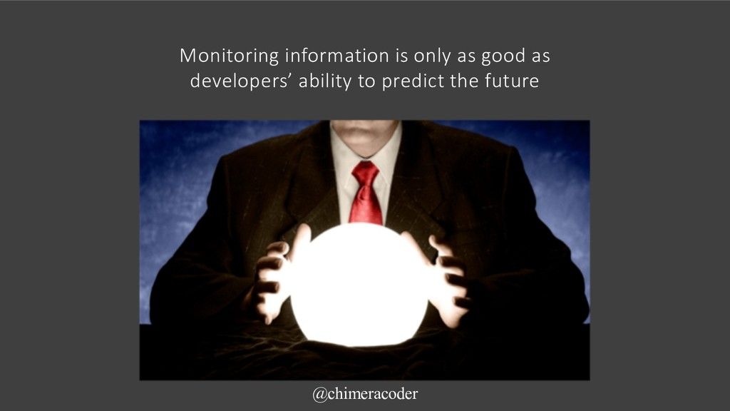 Monitoring information is only as good as devel...
