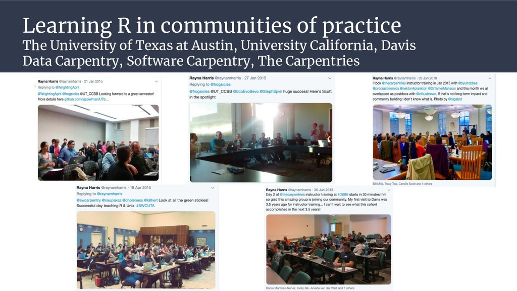 Learning R in communities of practice The Unive...