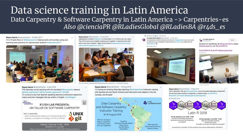 Data science training in Latin America Data Car...