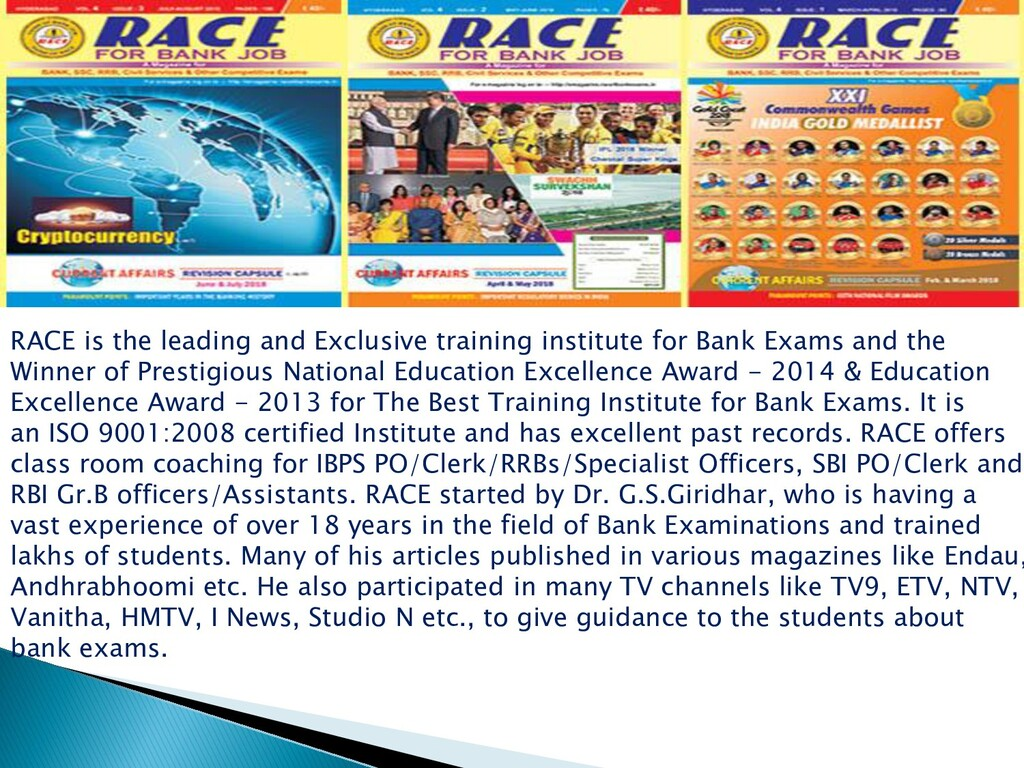 RACE is the leading and Exclusive training inst...