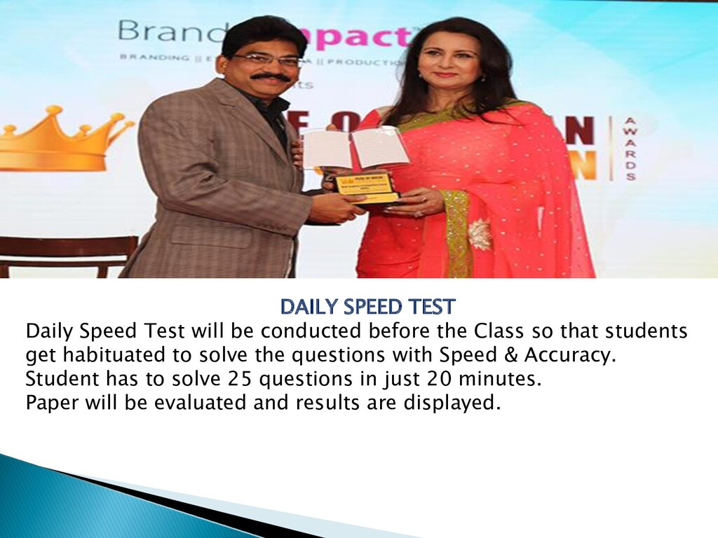 DAILY SPEED TEST Daily Speed Test will be condu...
