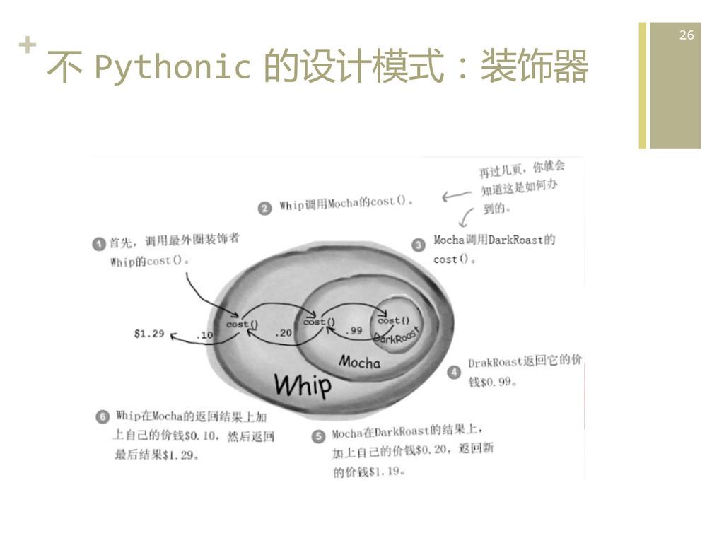 +  不 Pythonic 的设计模式:装饰器  26