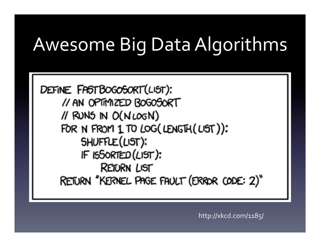 Awesome Big Data Algorithms  http:/...