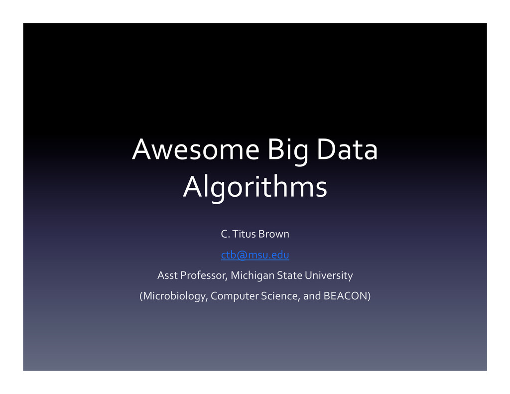 Awesome Big Data  Algorithms  C. ...