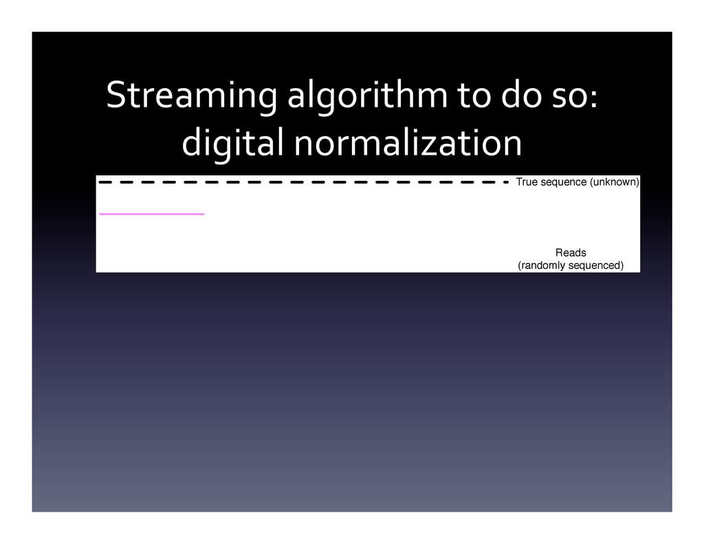 Streaming algorithm to do so:  d...