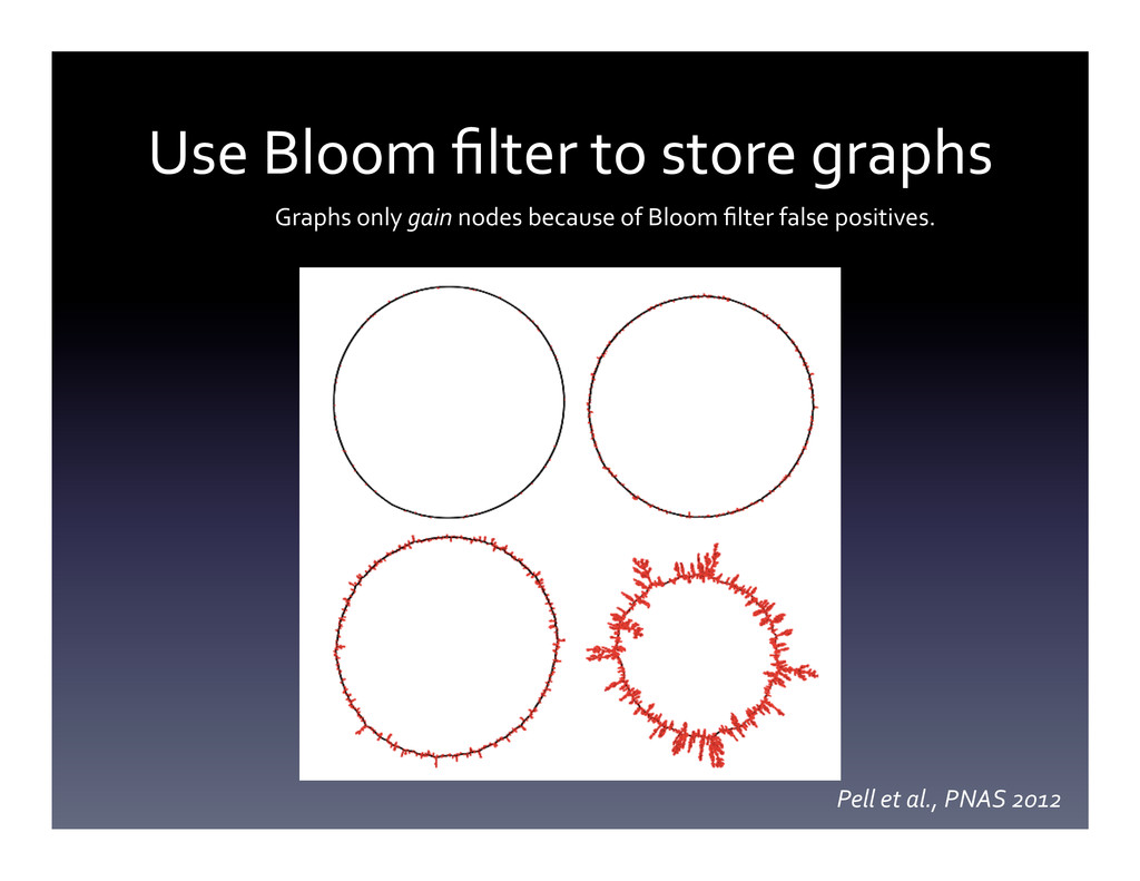 Use Bloom filter to store graphs...