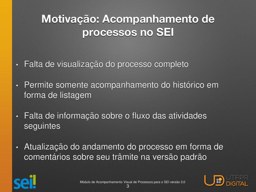 Motivação: Acompanhamento de processos no SEI •...