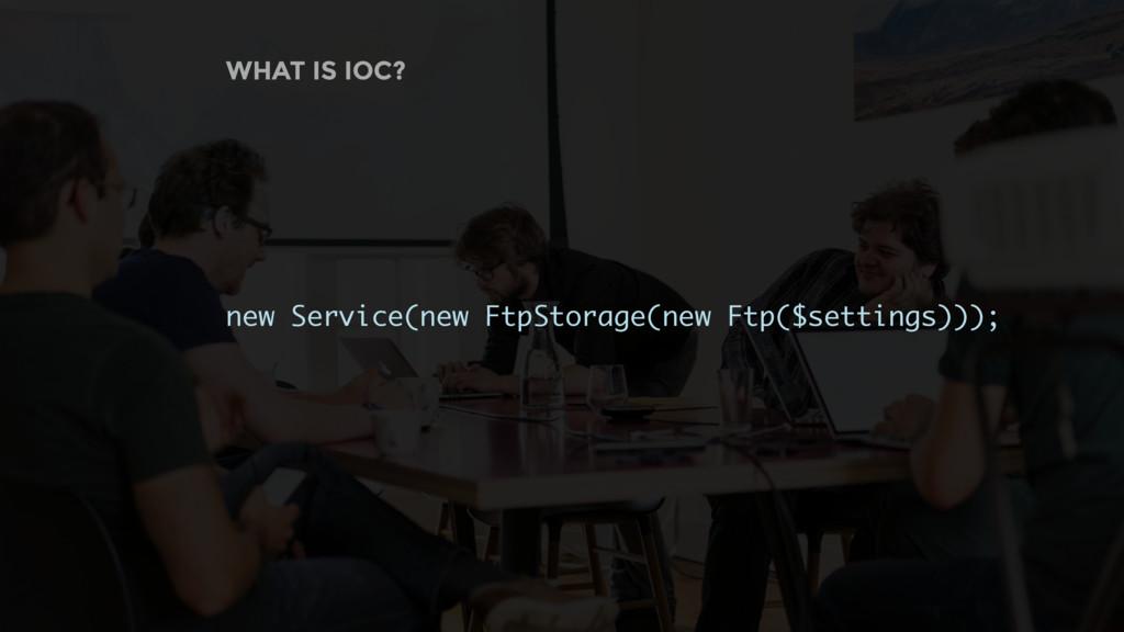 WHAT IS IOC? new Service(new FtpStorage(new Ftp...