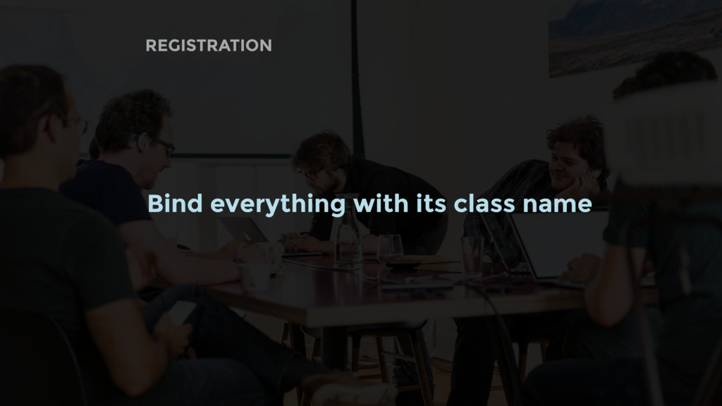 REGISTRATION Bind everything with its class name