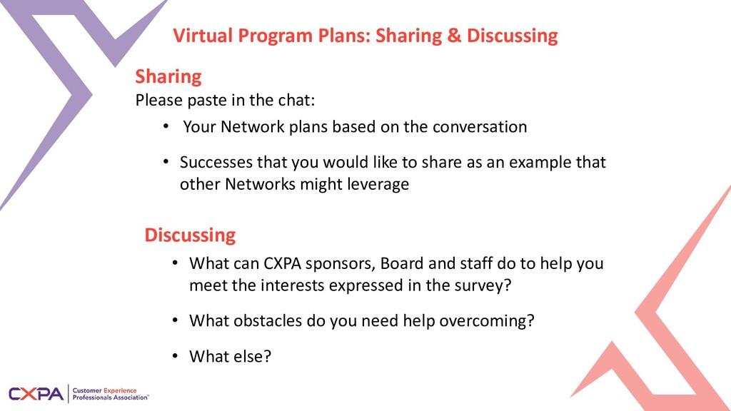 Virtual Program Plans: Sharing & Discussing Sha...