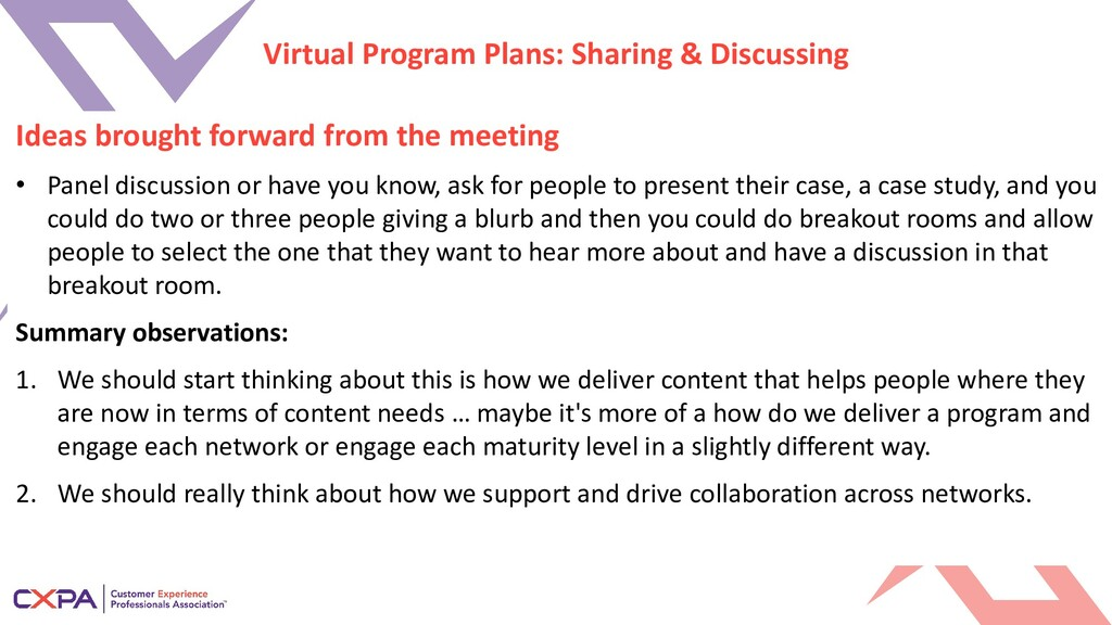 Virtual Program Plans: Sharing & Discussing Ide...