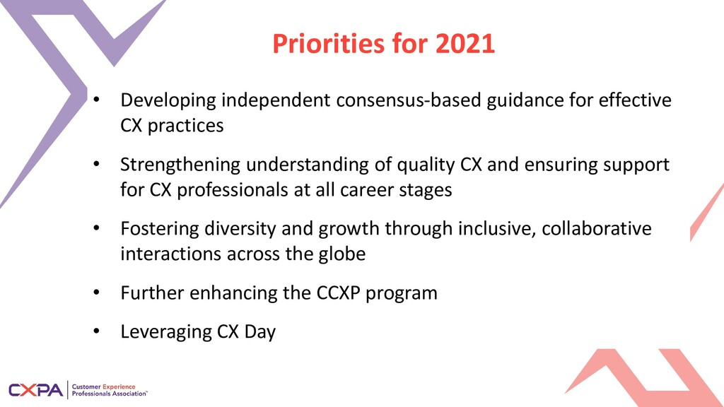 Priorities for 2021 • Developing independent co...
