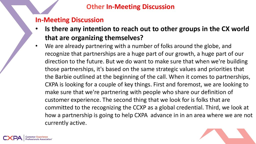 Other In-Meeting Discussion In-Meeting Discussi...