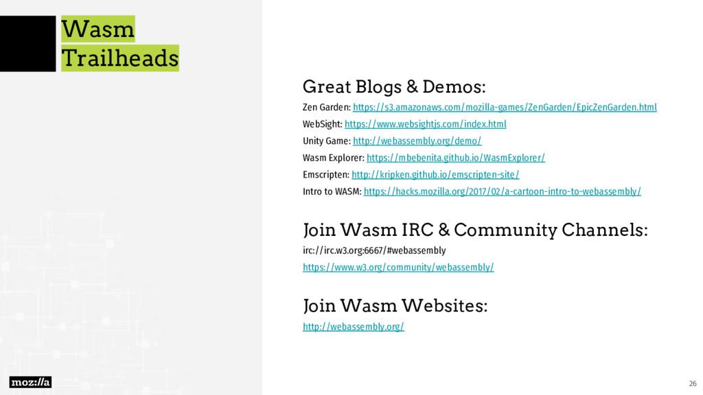 Wasm Trailheads Great Blogs & Demos: Zen Garden...
