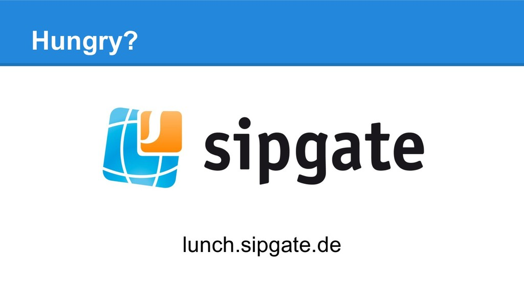 lunch.sipgate.de Hungry?