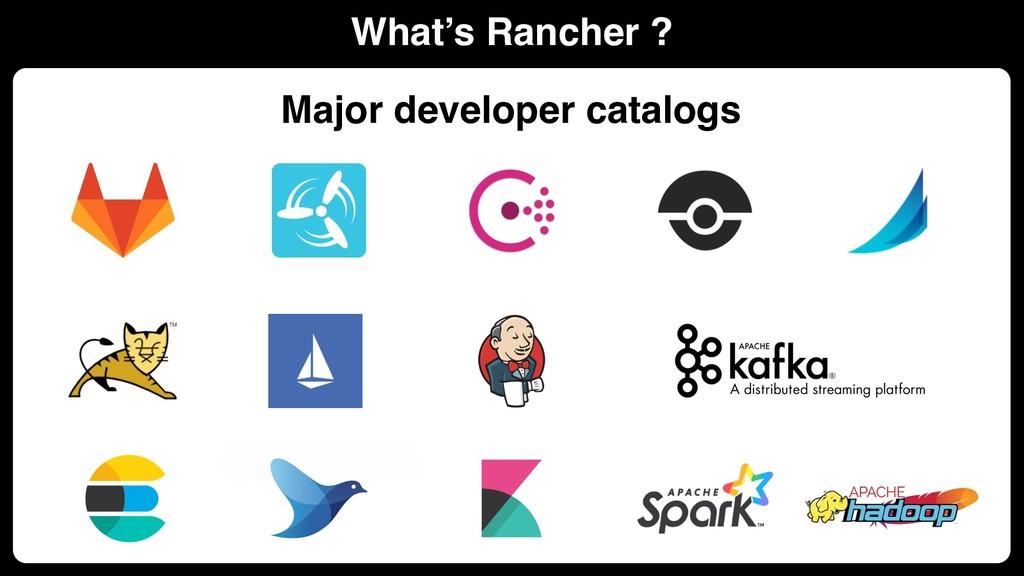 What's Rancher ? Major developer catalogs