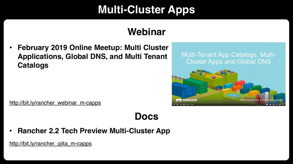 • February 2019 Online Meetup: Multi Cluster Ap...