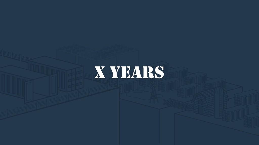 X YEARS