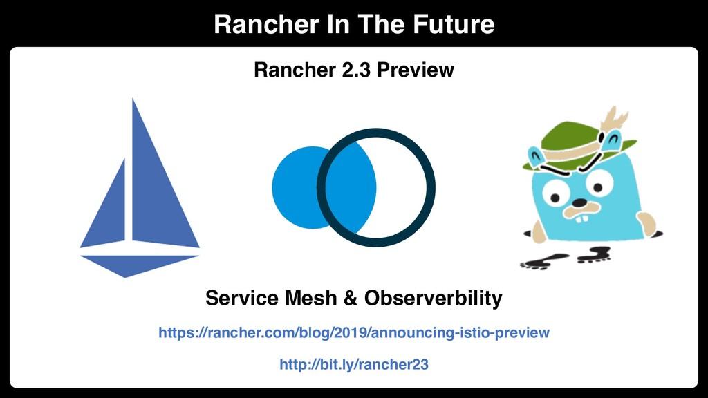 Rancher In The Future Rancher 2.3 Preview Servi...