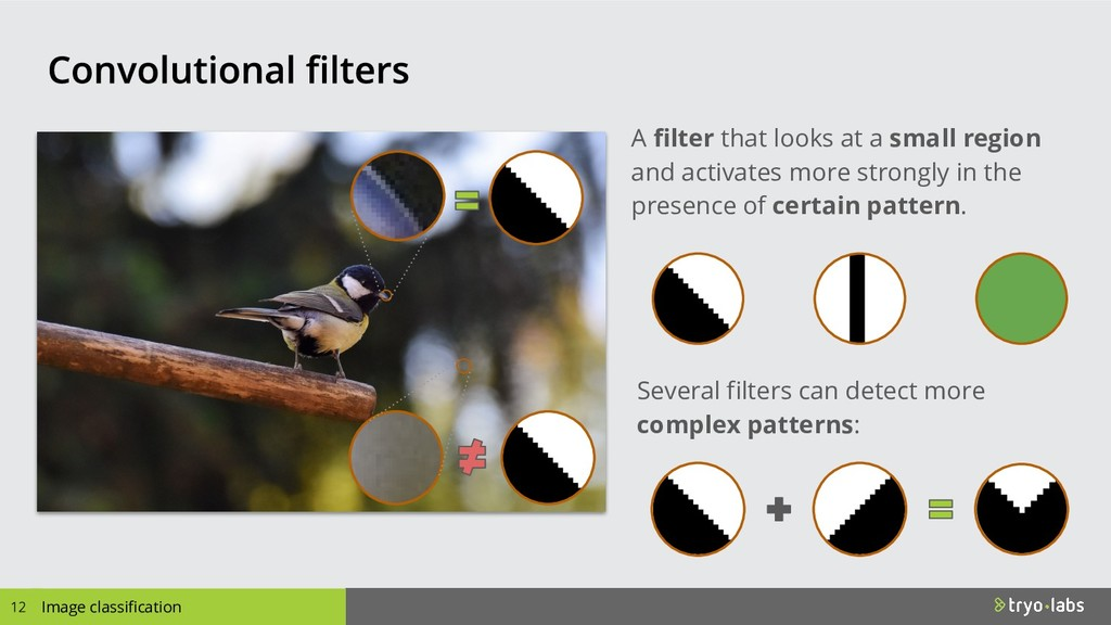Image classification A filter that looks at a s...