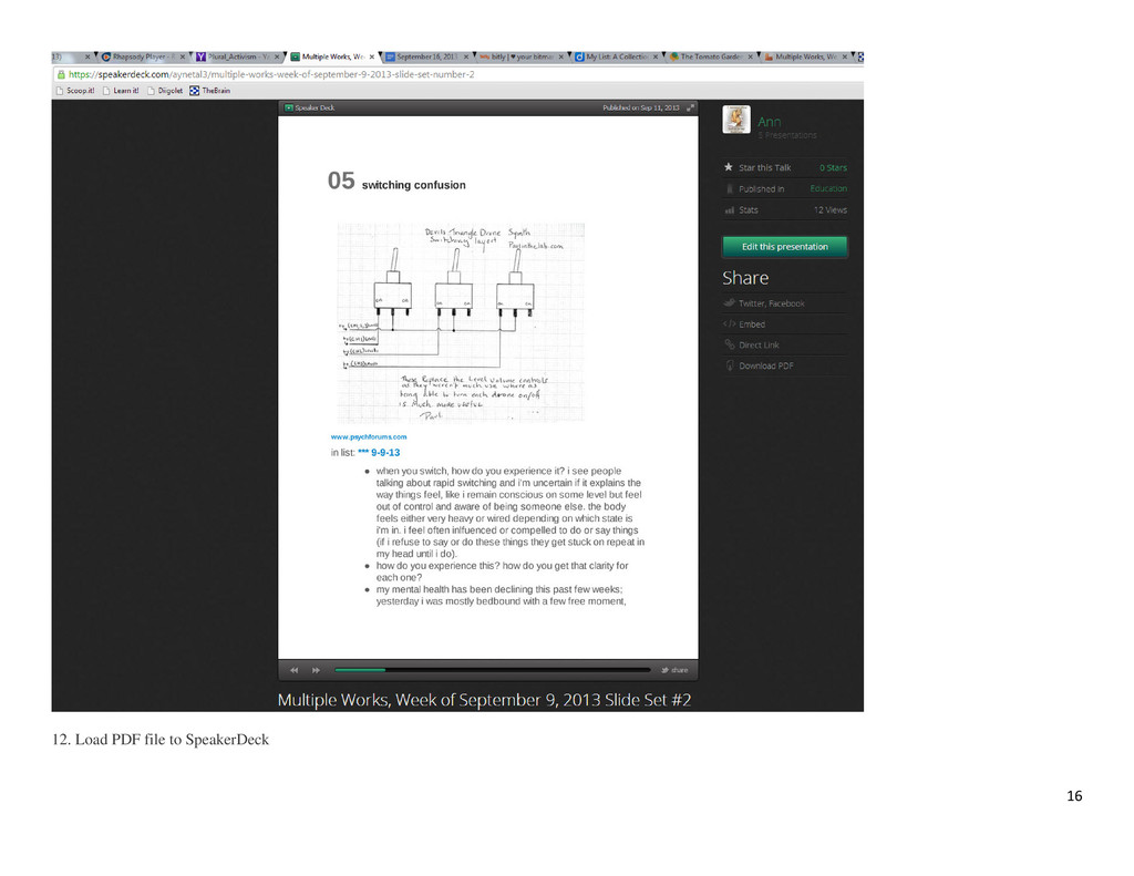 16 12. Load PDF file to SpeakerDeck