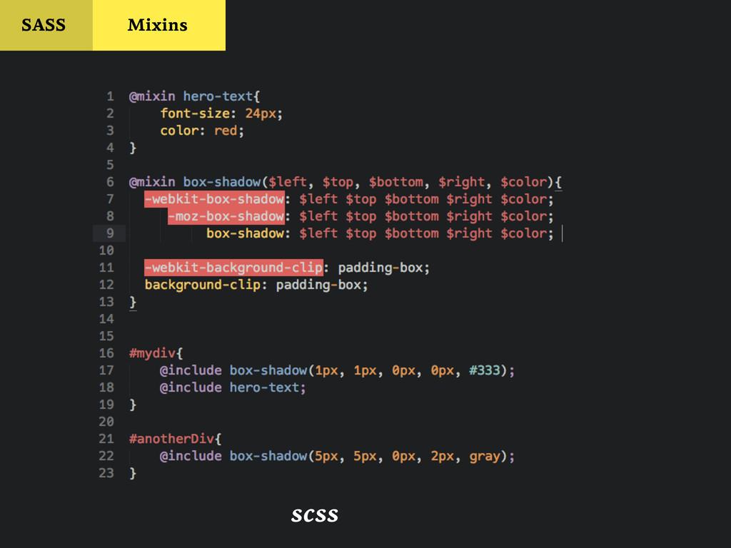 SASS Mixins scss