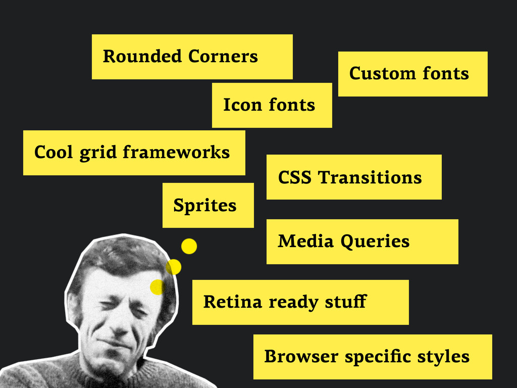 Rounded Corners Icon fonts Sprites Cool grid fr...