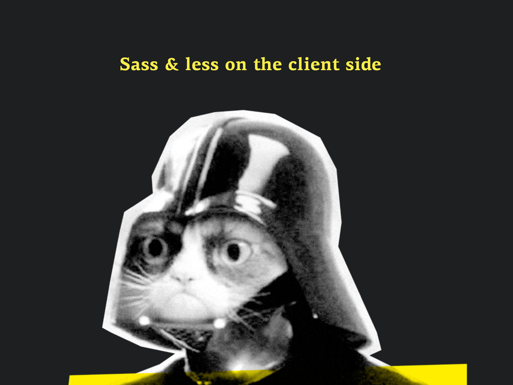 Sass & less on the client side