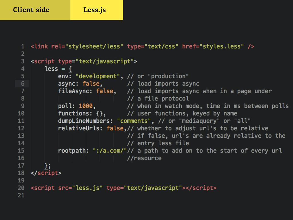 Client side Less.js