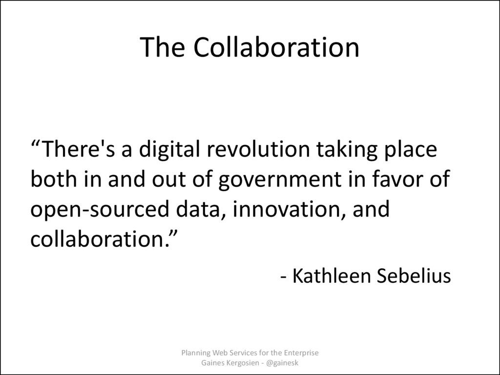 """The Collaboration """"There's a digital revolution..."""