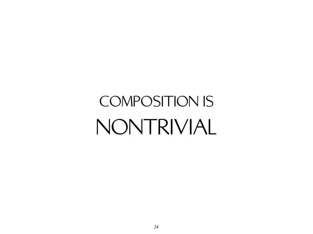 NONTRIVIAL COMPOSITION IS 24