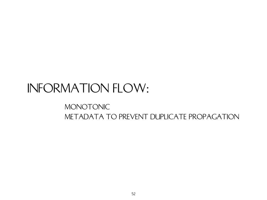 INFORMATION FLOW: MONOTONIC METADATA TO PREVENT...