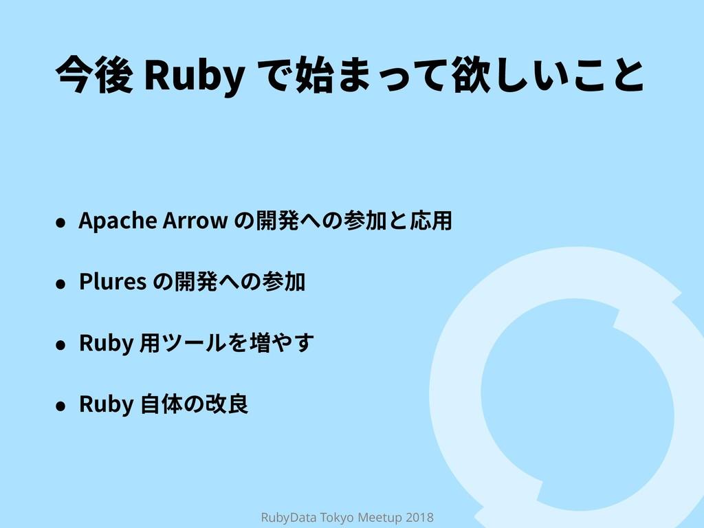 RubyData Tokyo Meetup 2018 ➙䖓3VCZד㨣תג妜׃ְֿה ˖...