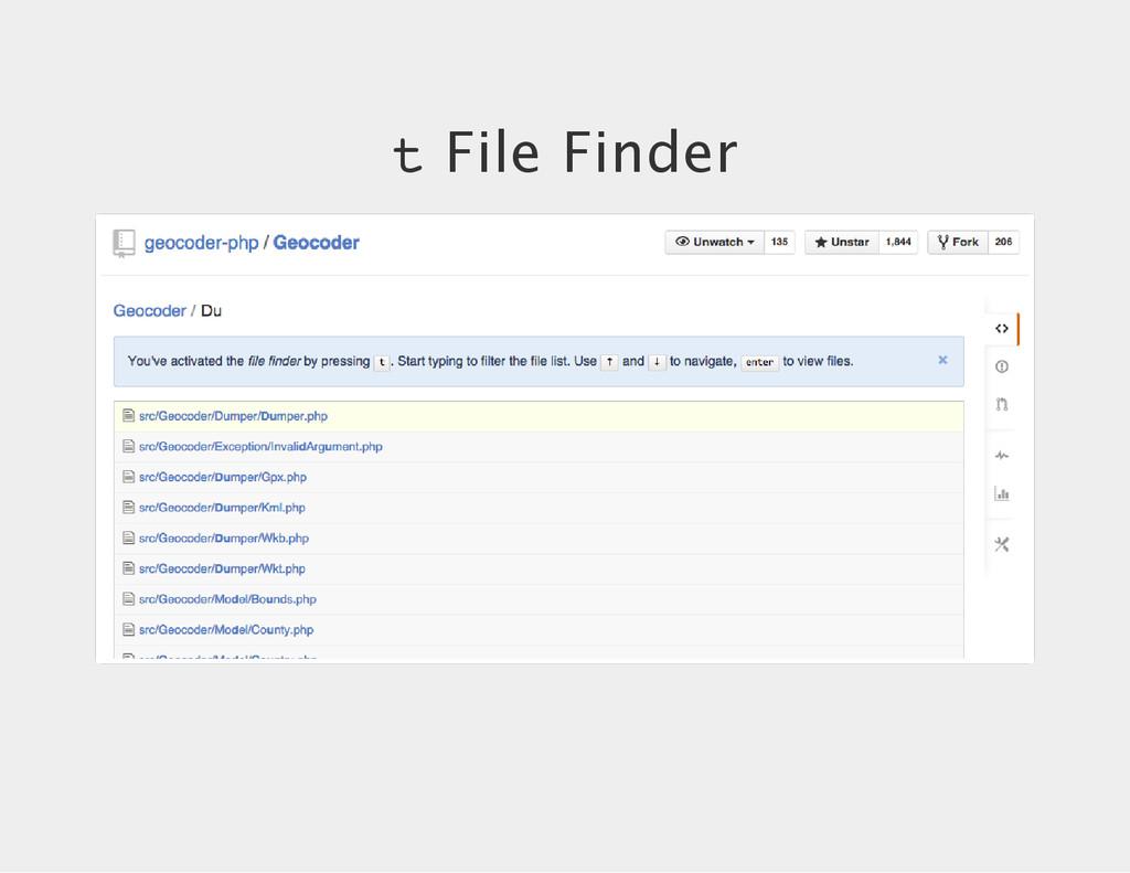 t File Finder