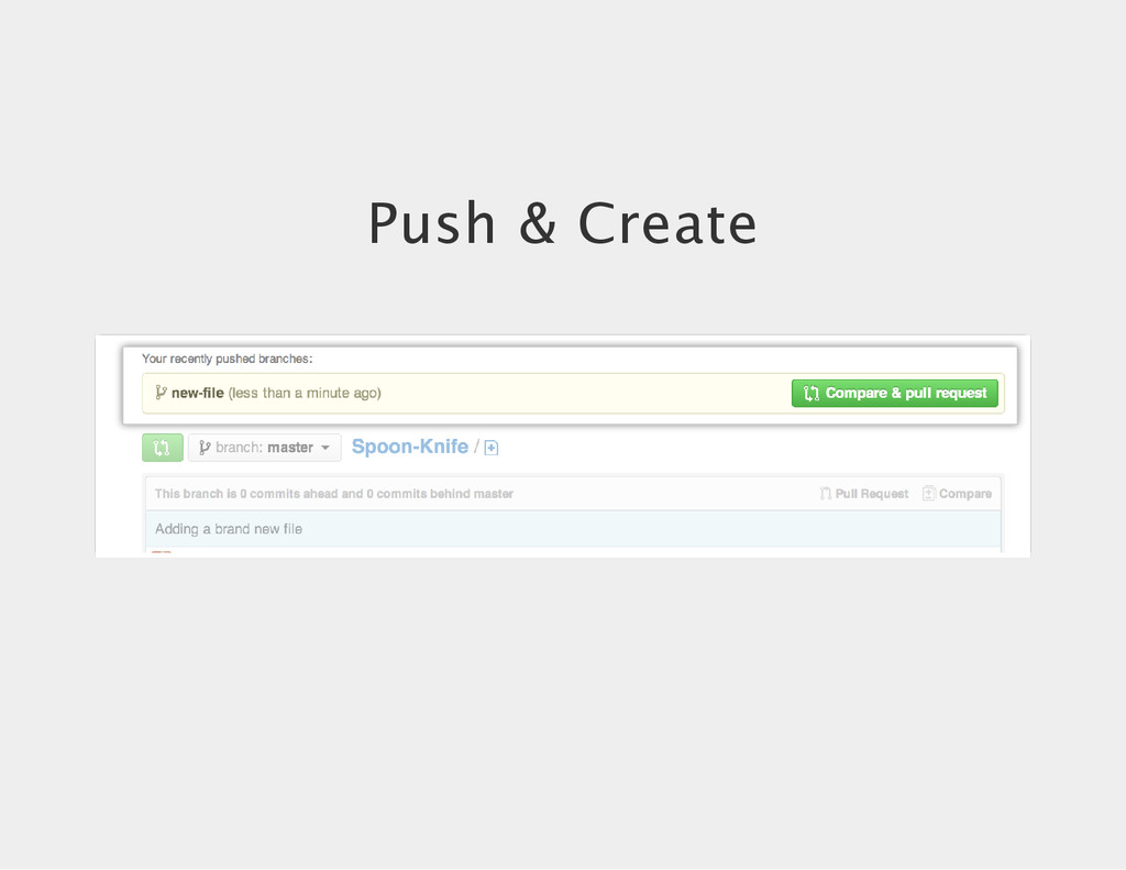 Push & Create