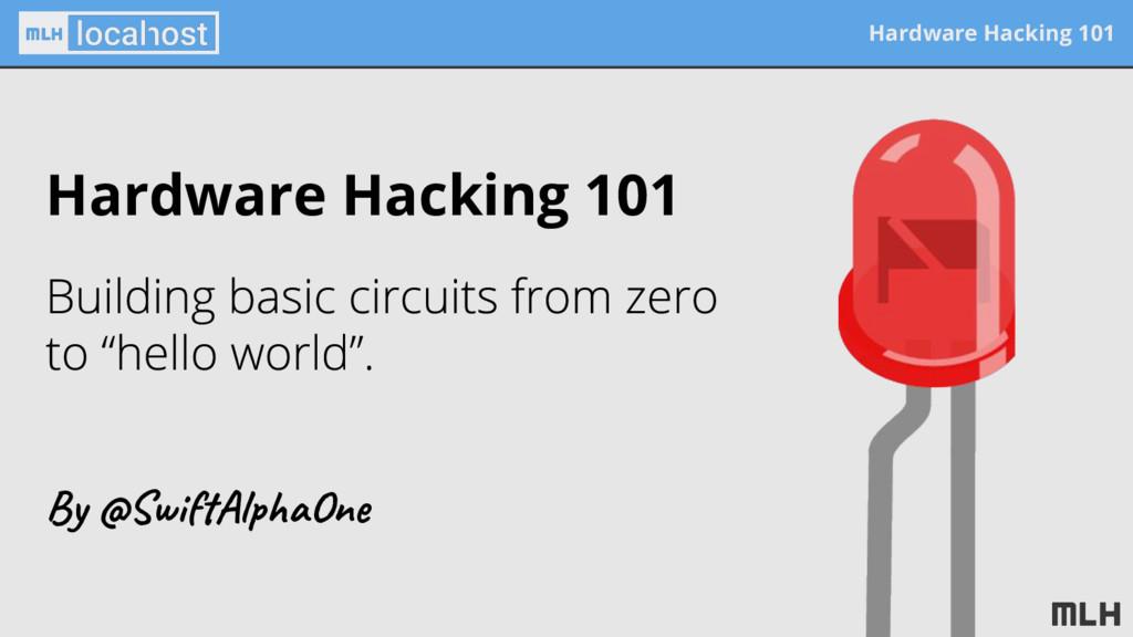 Hardware Hacking 101 Hardware Hacking 101 By @S...