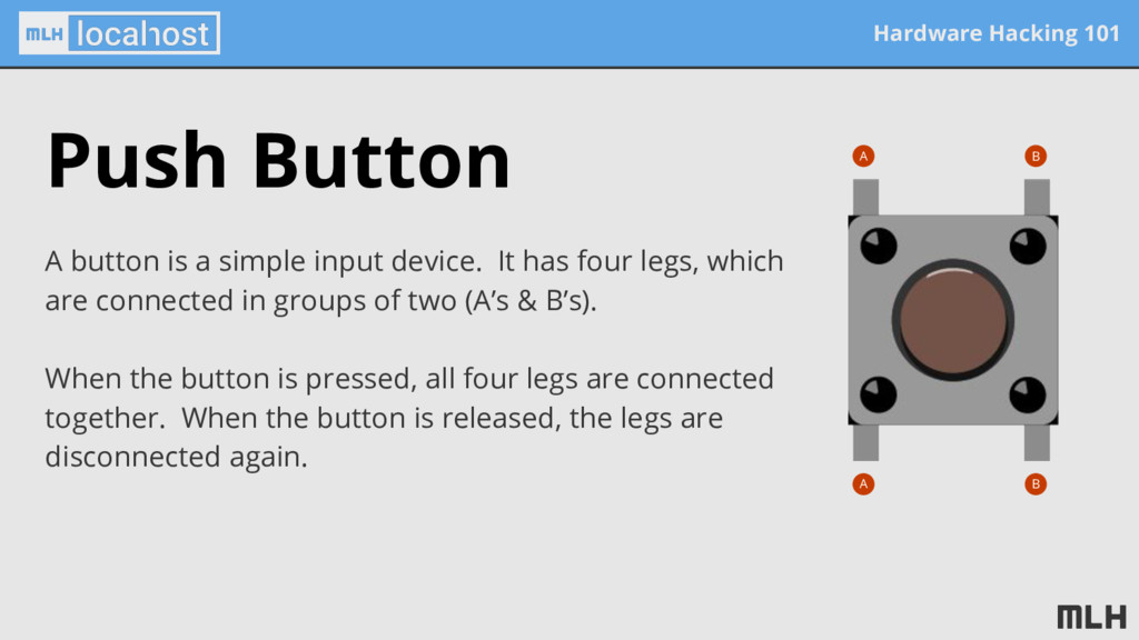 Hardware Hacking 101 Push Button A button is a ...